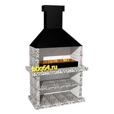 Барбекю из жаропрочного бетона купить перекрытия профлистом и керамзитобетоном